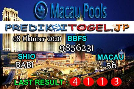Prediksi Togel Wangsit Macau Pools Kamis