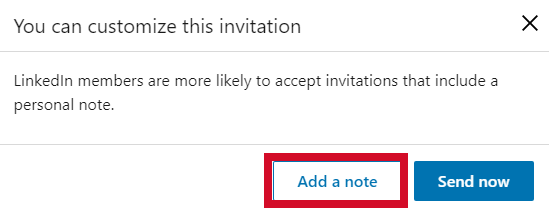 customizing your LinkedIn invitations