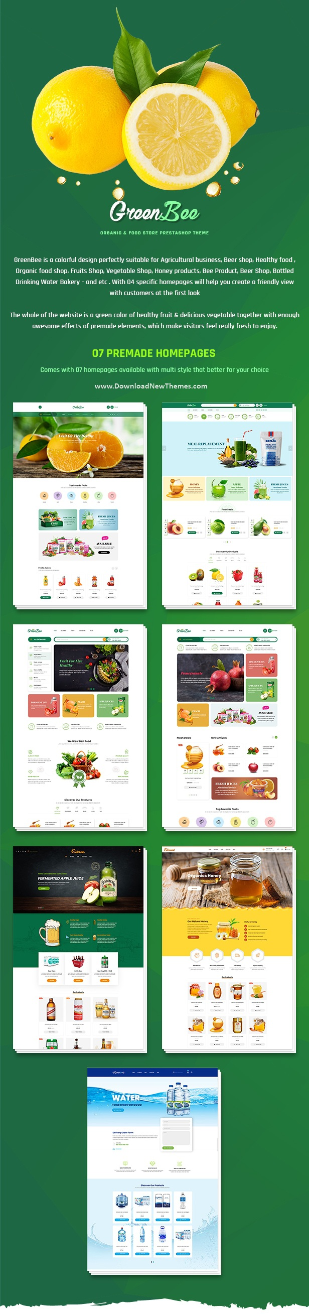 Vegetable and Fruit Shop eCommerce Website Theme