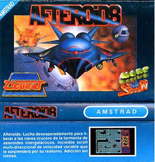 Portada videojuego Afteroids