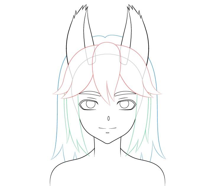 Gambar rambut gadis anime serigala