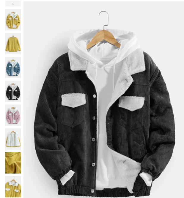 hits for mens Corduroy jacket mens