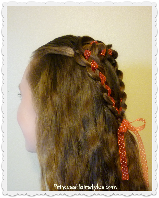 Pretty Heart Hairstyle For Valentineu0027s Day. 4 Strand Rosette Tutorial.