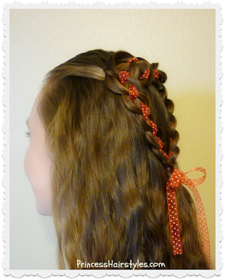 Pretty heart hairstyle for Valentine's Day. 4 strand rosette tutorial.