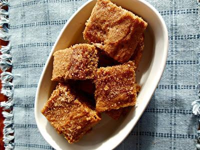 Sugar and Spice Snickerdoodle Bars, whole grain and delicious!