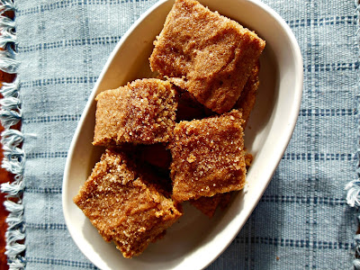 dinner Sugar and Spice Snickerdoodle Bars, whole grain and delicious!