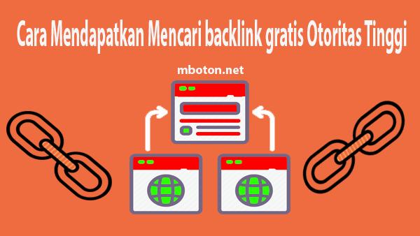 backlink gratis Otoritas Tinggi berkualitas dan sangat membantu meningkatkan rangking website