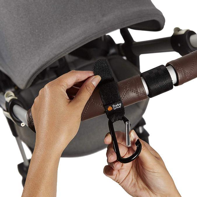 mosquetón para carrito de bebé