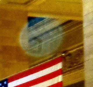 orb near flag