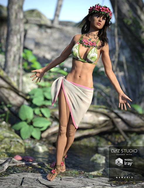 Kailani Outfit for Genesis 3 Female
