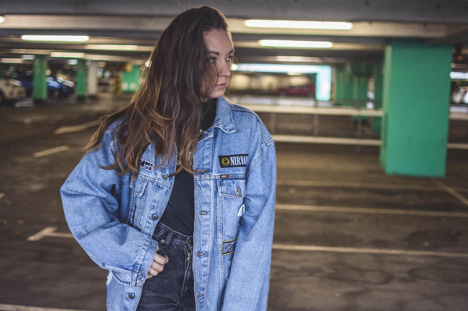 music denim jacket