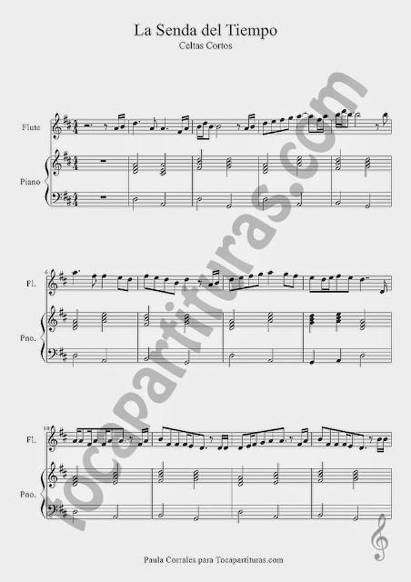 La Senda del Tiempo partitura de Flauta y Piano a duo Hoja 1 Sirve para Violín Oboe e instrumentos en Clave de Sol (pentagrama de arriba) Sheet Music