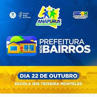 Anapurus realiza nesta sexta-feira (22) o primeiro 'Prefeitura nos Bairros'; confira os serviços oferecidos