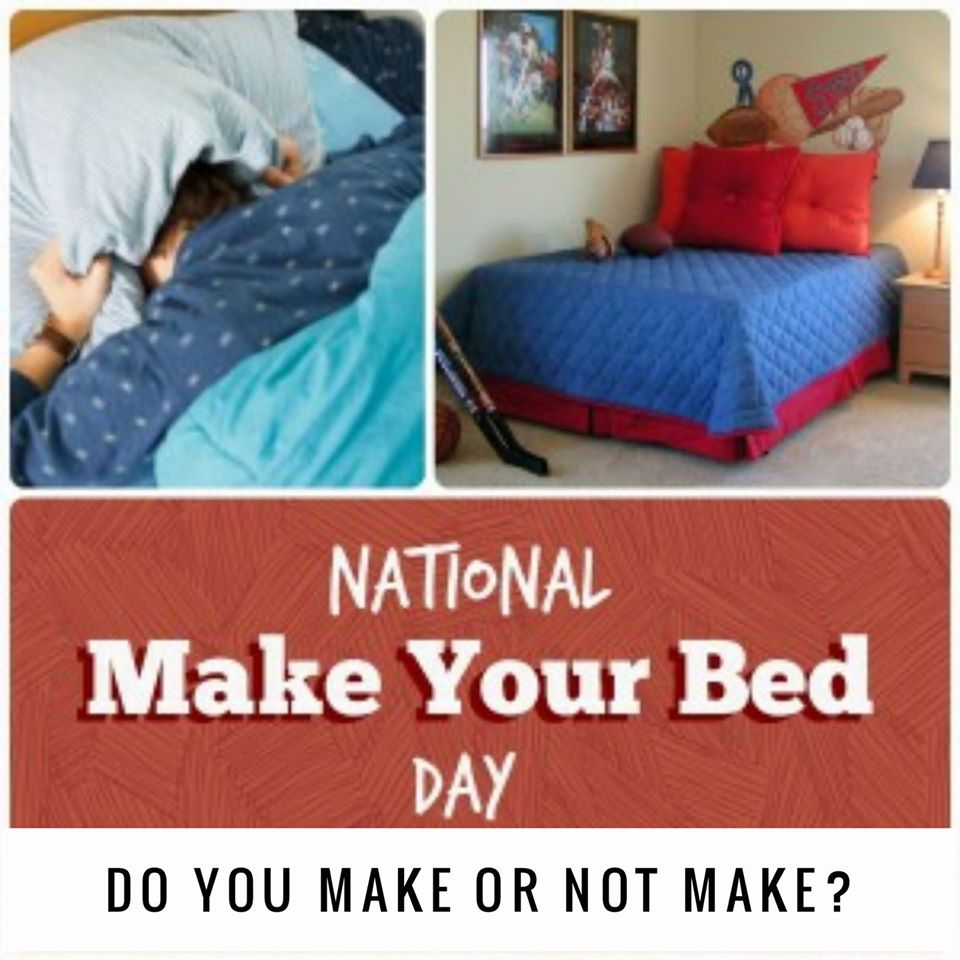 National Make Your Bed Day