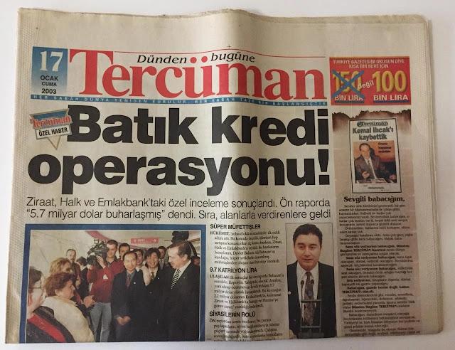 Tercüman gazetesi - Emlak Bankası hortumlama - sadecegercek.net - Sadece Gerçek