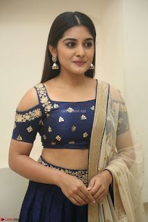 Niveda Thomas in Lovely Blue Cold Shoulder Ghagra Choli Transparent Chunni ~ Exclusive Celebrities Galleries 024
