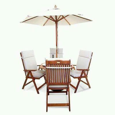 meja makan payung kayu jati