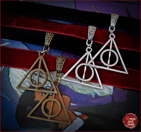 collier harry potter reliques de la mort choker harry potter deathly hallows necklace velvet
