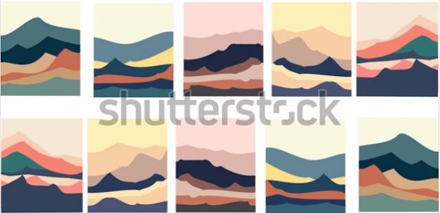 illustrator mountain design