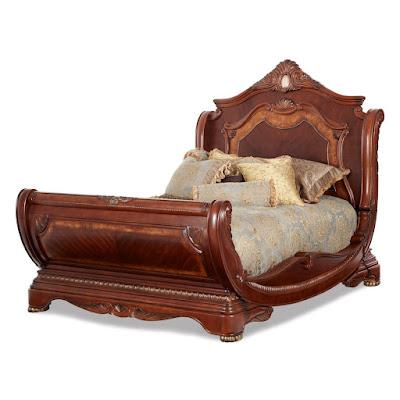Michael Amini sleigh bed