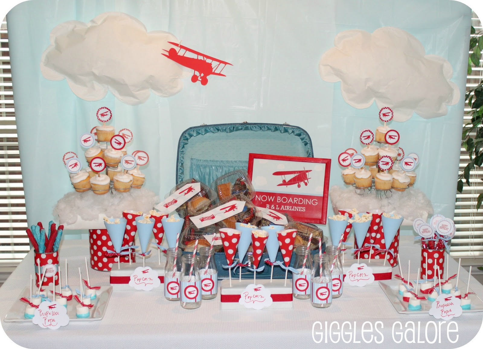 Airplane Party Dimple Prints