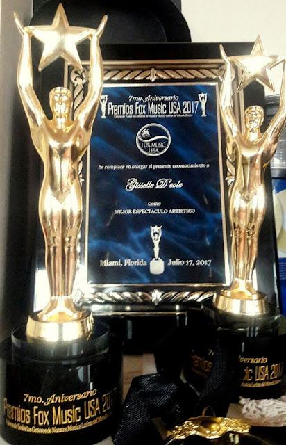 Gizelle D'Cole se quedó con el premio más importante de la noche de los Fox Music USA Awards 2017