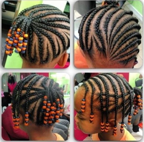 Black Kids Hairstyles With Beads Picture