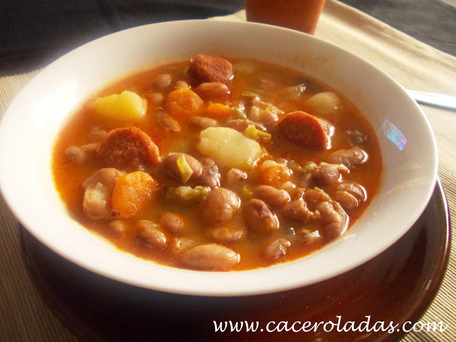 Jud as pintas con verduras y chorizo caceroladas - Judias con chorizo y patatas ...