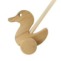 PU01, Push along Duck, Lotes Wooden Toys