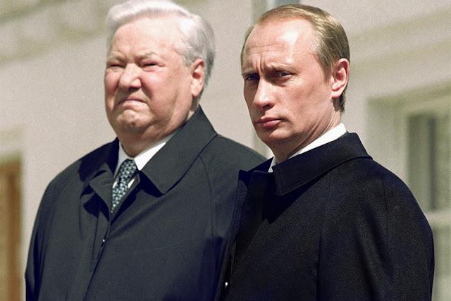 Владимир Путин и Борис Ельцин фото
