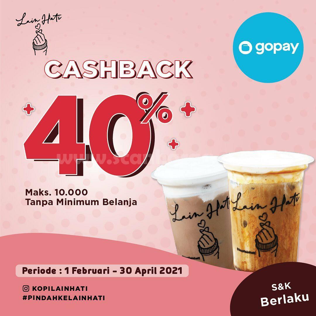 KOPI LAIN HATI Spesial Promo GOPAY! Cashback hingga 40%