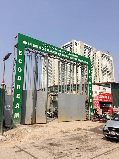 Cổng công trường xây dựng Eco Dream
