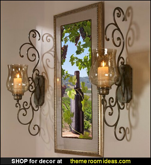 Iron Wall Sconce tuscan wall art tuscan wall lighting tuscany bedroom decor