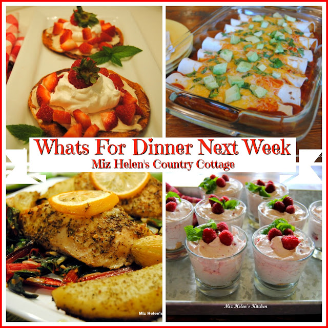 Whats For Dinner Next Week, 4-18-21 at Miz Helen's Country Cottage