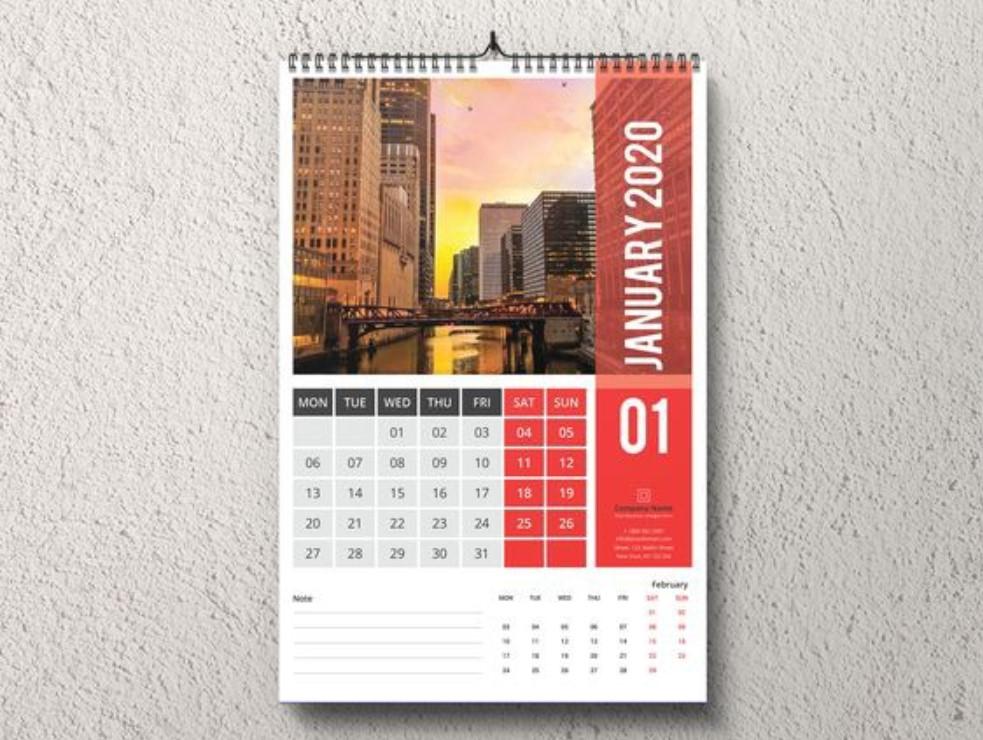 Gambar Desain Template Kalender 2020 Unik Menarik elegan ...