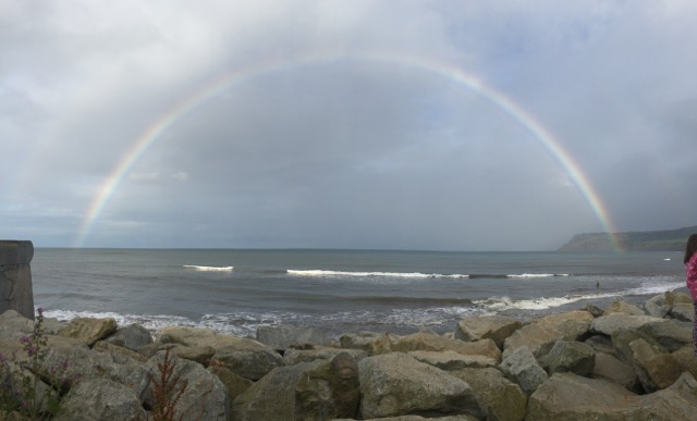 rainbow Robin Hoods Bay