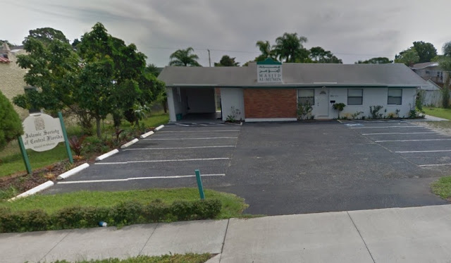 The Islamic Society of Central Florida Masjid Al-Munin Mosque located at 1011 South Washington Avenue in Titusville, Florida.