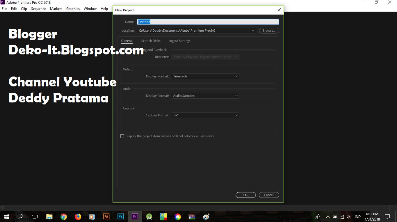 Cara Mudah / Tutorial Install Adobe Premiere Pro CC 2018