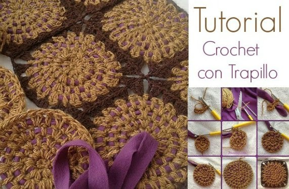 Crochet Lana mezclada con Trapillo Tutorial