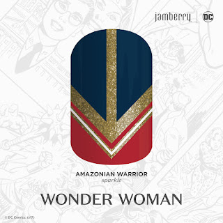 Inspired by DC Wonder Woman and her iconic shield of armor, this sparkle finish design is a must-have for any fan of the 'Amazonian Warrior'. #AmazonianWarriorJN Noel Giger Jamberry