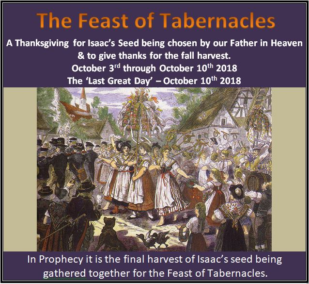 Our Fathers Kingdom Of America The Christian Feast Of Tabernacles