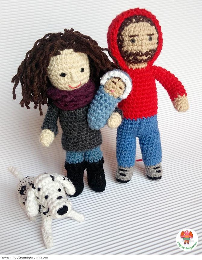 Familia tejida en ganchillo con amigurumi - Cursos amigurumi barcelona