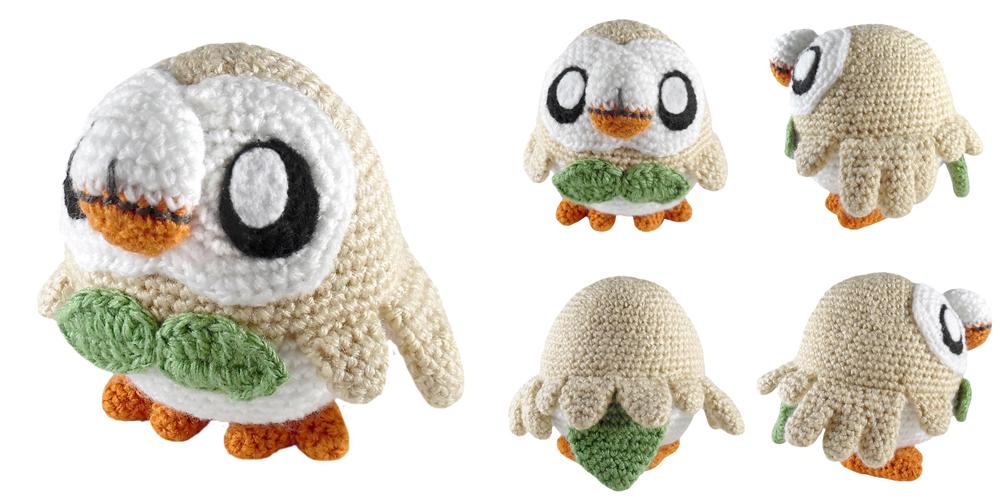 i crochet things: Pattern: Rowlet Amigurumi
