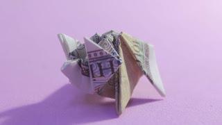Hướng dẫn cách gấp con heo bằng tiền giấy đẹp và đơn giản