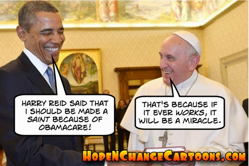 obama, obama jokes, obamacare, health care, deadline, sibelius, hope n' change, hope and change, stilton jarlsberg, coffee couple, conservative, tea party, pope, saint, reid