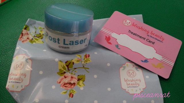 skinstation treament card, post laser cream,