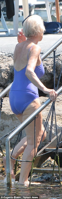 69 year old actress Helen Mirren shows off body in swimwear