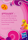 My Little Pony Pony Collection Set Applejack Blind Bag Card