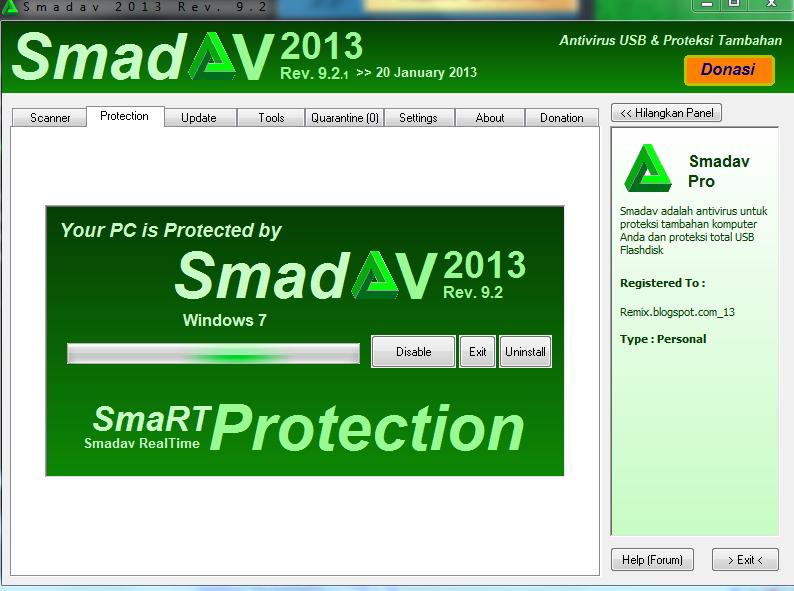 Mega Cara Merubah Smadav Free Menjadi Smadav Pro Dengan Menggunakan Serial Key Terbaru 2013