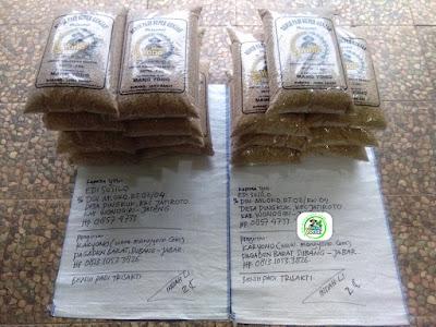 Benih padi yang dibeli    EDI SUSILO Wonogiri, Jateng.  (Sebelum packing karung ).